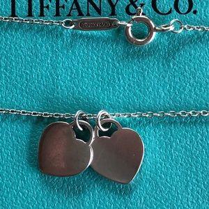 "Tiffany & Co. Jewelry - Tiffany & Co. Enamel Mini Tag Necklace 18"""